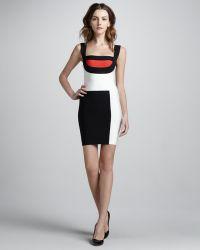 Hervé Léger Mondrian Colorblock Bandage Dress - Lyst