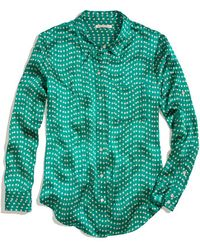 Madewell - Silk Charmeuse Shirt in Dotdash - Lyst