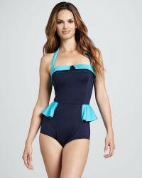 Marc By Marc Jacobs - Colorblock Ruffle Swimsuit - Lyst