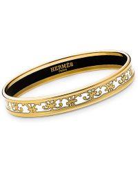 Hermès Enamel Bracelet white - Lyst