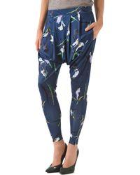 SUNO - Drapey Skinny Trousers - Lyst