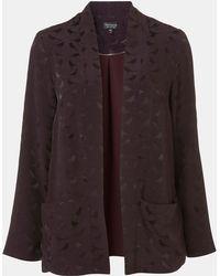 Topshop Bird Jacquard Kimono Jacket - Lyst