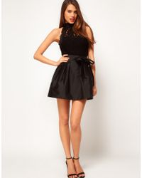 ASOS Collection Asos Skater Skirt with Bow - Lyst