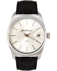Ben Sherman White Dial Leather Strap Watch - Lyst