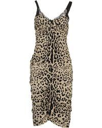 Dolce & Gabbana Knee-Length Dress black - Lyst