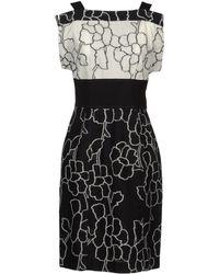 I'm Isola Marras Floral Printed Viscose Cady Ruffle Dress - Lyst