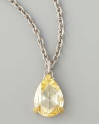 Judith Ripka - Canary Crystal Pendant Necklace - Lyst