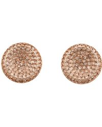 Michael Kors Brilliance Concave Pave Stud Earrings pink - Lyst