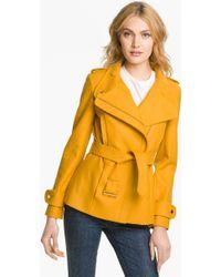 Ted Baker Funnel Neck Wool Blend Jacket - Lyst