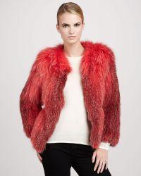 Tasha Tarno - Knitted Fox Crewneck Jacket Coral - Lyst