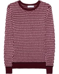 Jonathan Saunders Oval Waffle-knit Cotton Sweater - Lyst
