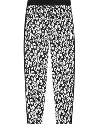 Callula Lillibelle - Rei Printed Tapered Stretch-cotton Pants - Lyst