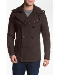 Diesel Wittory Double Breasted Peacoat - Lyst