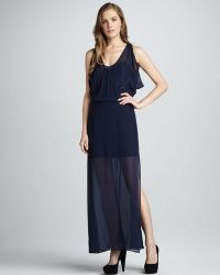 Madison Marcus - Sheeroverlay Sequined Dress - Lyst