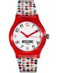 Boutique Moschino - Be Fashion Pink Watch - Lyst