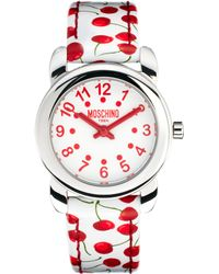 Boutique Moschino - Lets Picnic Cherry Watch - Lyst