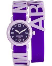 Moschino - Cheap Chic Fashion Alphabet Watch - Lyst