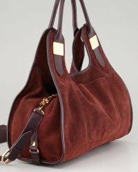 Rachel Zoe - Lucas Medium Suede Shopper Bag Sella - Lyst