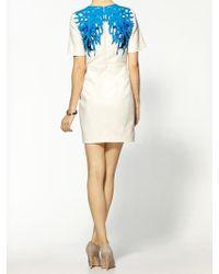 Tibi Coral Short Sleeve Silk Dress - Lyst