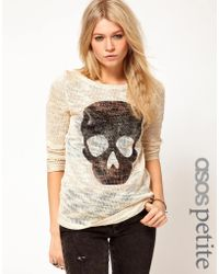 Asos Exclusive Jumper with Skull Print - Lyst
