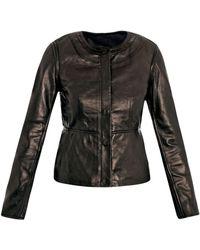 Diane von Furstenberg Python Print Coat black - Lyst