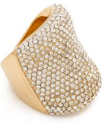 Michael Kors - Pave Concave Ring - Lyst