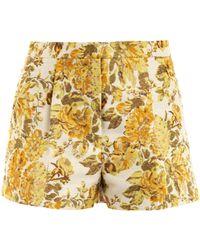 Stella McCartney Warwick Floral Jacquard Shorts yellow - Lyst
