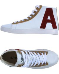 Armani Jeans Hightop Trainers - Lyst