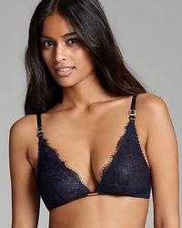Ash - Calvin Klein Underwear Bralette Eyelash Chantilly Lace Triangle - Lyst