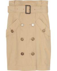 Burberry Brit - Trench Coat-inspired Cotton Midi Skirt - Lyst