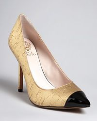 Vince Camuto Pointed Toe Cap Toe Pumps Harty2 High Heel - Lyst