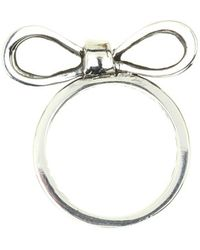 King Baby Studio Small Bow Ring - Lyst