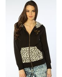 Crooks and Castles - The Fwu Leopard Zip Hoody in Black - Lyst