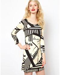 Sonia by Sonia Rykiel Graphic Print Jersey Dress - Lyst