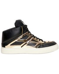 Alejandro Ingelmo Gold Mirror Leather High Top Sneakers black - Lyst