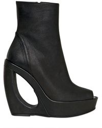 Ann Demeulemeester - Hammered Leather Wedges - Lyst