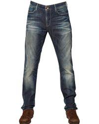Armani Jeans 18Cm J06 Super Skinny Washed Denim Jeans blue - Lyst