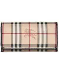 Burberry Penrose Haymarket Pvc Wallet - Lyst