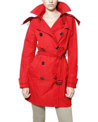 Burberry Brit - Double Breasted Nylon Trench Coat - Lyst