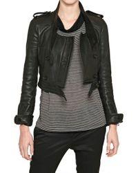 Burberry Prorsum Nappa Leather Biker Jacket - Lyst