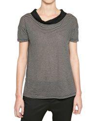 Burberry Prorsum - Striped Tshirt - Lyst