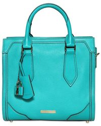 Burberry Small Honeywood Grained Leather Bag blue - Lyst