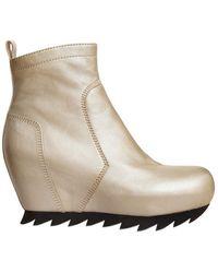 Camilla Skovgaard 80Mm Calfskin Wedge Boots - Lyst