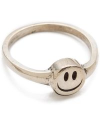Cast Of Vices Happy Face Ring - Lyst