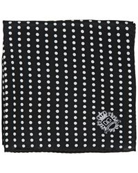 Dolce & Gabbana Polka Dot Silk Satin Pocket Square - Lyst