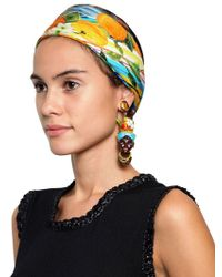 Dolce & Gabbana Hand Painted Heads Clip On Earrings - Lyst