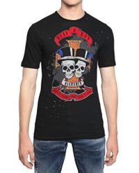 DSquared² Distressed Cotton Linen Jersey T-Shirt - Lyst