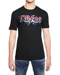 DSquared² Twins Print Cotton Linen Jersey T-Shirt - Lyst