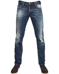 DSquared² 19cm Distressed Slim Fit Denim Jeans - Lyst