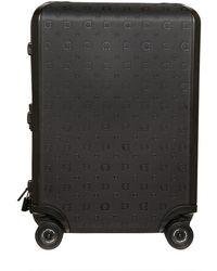 Ferragamo - Gancio Logo Print Hard Case Trolley - Lyst